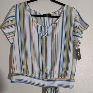 NWT! Plus size striped top